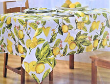 "Fabric TableCloth Lemon Zest 60X102"" Tablecloth NEW Spring Summer Picnic"