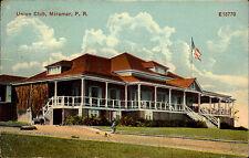 Miramar Puerto Rico Amerika 1911 Union Club Building Postcard Cancel of Anasco