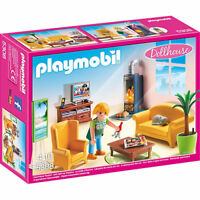 PLAYMOBIL Living Room with Fireplace Dolls House - Dollhouse 5308