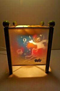 "Retro Magic Spinning Sponge Bob Square Pants Motion Lamp 8"" Lantern Night Light"