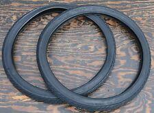 "26"" Black Cruiser Slick Bicycle Tires Vintage Schwinn Lowrider ChopperTank Bike"