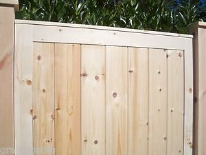 BESPOKE - Custom Made to Measure 'PREMIER PANELLED' Wooden Pedestrian Side Gates