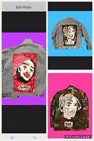 Hand Painted Custom Lil Peep Jacket Army Jacket Or Denim Jacket Any Size Pm Me