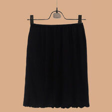 Lady Modal Under Skirt Slip Underwear A-Line Underskirt Petticoat Elastic Waist