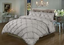 Vintage T180 Percale Luxury Modern Duvet/Quilt Cover Set In Pintuck Design