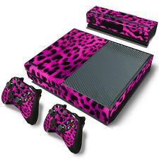 XBOX ONE Skin Design Foils Aufkleber Schutzfolie Set - Pink Leopard Motiv