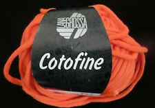 (9,90 €/100g): 50 g  LG COTOFINE, wattiertes Bändchengarn,  Fb. 002 orange# 4171