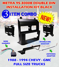 2METRA 95-3000B DOUBLE DIN DASH KIT FOR STEREO RADIO INSTALL INSTALL KIT 4 ITEM