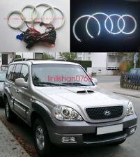 4pcs LED SMD 7000K Angel Eyes kit Halo Rings For Hyundai Terracan 2001 - 2007