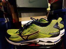 "MIZUNO Men's ""Wave Rider 15"" Neon Green Running Shoes  Mens Sz 14"