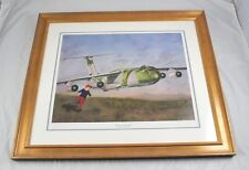 "Framed Signed Numbered Bomber Print Free To Dream By Peter A Fleischmann 29""x25"""