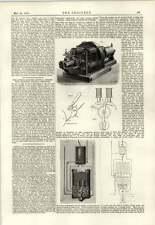 1889 lámparas de los dínamos de sistema de iluminación Fabius Henrion