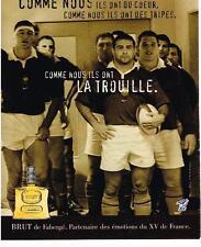 PUBLICITE ADVERTISING 2000   FABERGE  BRUT   ILS ONT LA TROUILLE eau de toilette