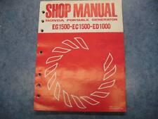 HONDA 1978 EG1500 EC1500 ED1000 PORTABLE GENERATOR SHOP MANUAL GUIDE REPAIR