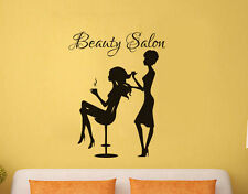 Quote Beauty Shop Wall Decal Woman Doing Girl's Hair  Wall Decor Sticker