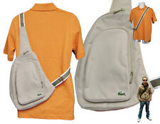 New Vintage LACOSTE Backpack Bag Single Strap Casual 2.13 Light Beige