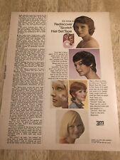 SCOTCH Hair Set Tape - Vintage 1973 Magazine Print Ad Clipping