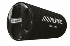 Alpine Bass Reflex Single 10 Inch Sealed Subwoofer Tube with Protective Grille