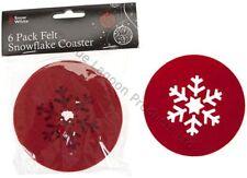Felt Snowflake Christmas Table Decorations & Settings