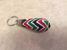 African-Arena Handmade Maasai Masai Beaded Cow Horn Bone Key Chain Holder AA25