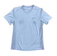 Nike Men's Dri-Fit Running Mesh Grey Athletic Exercise Shirt | Medium