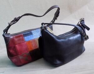 COACH 2 pieces Vintage Genuine Leather Bags Purse