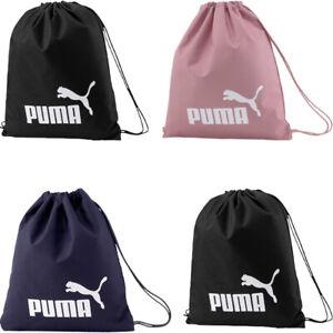 Puma Gym Sack Gymsack Drawstring Bag Phase Sports Training Travel Bags Black