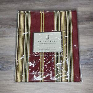 "Pottery Barn Morgan Stripe Cafe Curtain Rideau 44 X 24"" / 112 x 61 cm Pole Pkt"