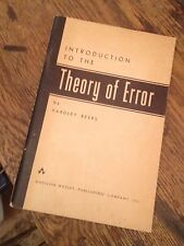Introduction to the THEORY OF ERROR Beers 1958 Mathematics FREE US SHIPPING Rare