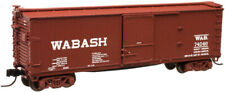 N scale Atlas 40' Usra Double Sheathed Box Car Wabash Rr #74040 Item 45765