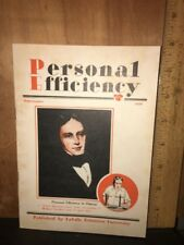 Personal Efficiency Vintage Magazine 1930 LaSalle University.
