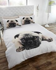 PUG DOG PUPPY CUTE POOCH QUILT DUVET COVER BEDDING SET PILLOWCASE 3 SIZES