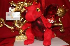 Ty Fire The Beanie Buddy Dragon-Great Wolf Lodge Exclusive-Mwnmt-2016-Nice Gift