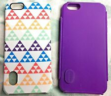 Modal iPhone 6/6s Plus Dual Layer Hybrid Case Colorful Triangles Deep Lavender