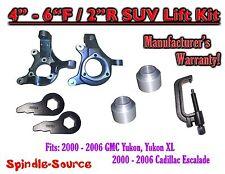 "00-06 GMC Yukon 1500 XL 1500 Escalade 2WD 4-6"" / 2"" Lift Kit Spindles Keys TOOL"