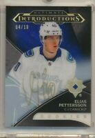 18-19 Ultimate Collection Introductions Gold RC AUTO UI-40 Elias Pettersson /10