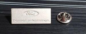 """Ford Pin """"Besser ankommen"""" kleines Logo silbern - Maße 30x12mm"""