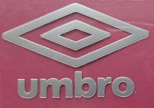 Silver Retro Umbro diamond logo rounded corners Press on clothing football shirt