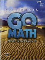 Go Math Grade 8 Interactive Worktext CA Common Core Textbook HMH Mathematics