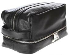 NEW DOLCE & GABBANA BLACK CALF LEATHER XL TOILETRY TRAVEL CASE CLUTCH BAG