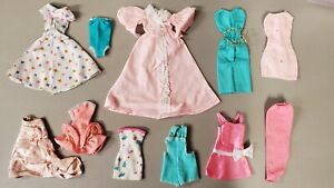 6F~TLC 215~MIXED BARBIE DOLL FASHION CLOTHING USED CLOTHES TLC LOT FOR OOAK PLAY