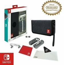 Nintendo Switch Accessory Kit Bundle Carry Case Joycon Protectors Earphones More