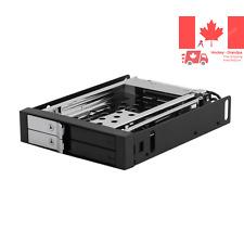 Dual Bay 2 5-Inch Internal SATA Tray-Less Hot Swap Rack with Key Lock