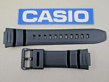 Genuine Casio MCW-100H MCW-110H black resin rubber watch band strap