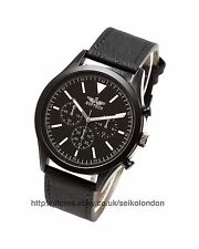 Softech Gents Black Dial Watch, Black Finish Case, Black Strap