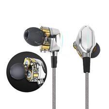 3.5mm HiFi Dual Dynamic Driver Earphone Super Bass Headphone Earbud Headset K8V6