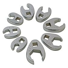 """Sunex Tools 3/8"""" Dr. 8 Pc. Fully Polished SAE Flare Nut Crowfoot Wrench (9708)"""