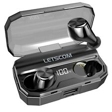 Wireless Earbuds, Letscom 80 Hrs Playtime, Ipx6 Waterproof Headphones with Wi.