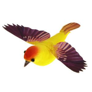 Artificial Realistic Clip On Foam Feather Garden Birds Decoration Crafts S