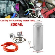 Car Modification 800ML Aluminum Alloy Cooling Pot Auxiliary Water Tank w/ Clamp